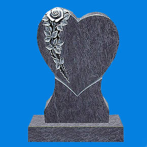 Heart with Rose Relief